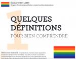 La relation entre éducation et questionnements LGBT+