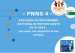 PNNS 4 synthèse du programme nutrition santé 2019-2023 : les axes, les objectifs et les actions