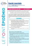 Santé mentale en région Centre-Val-de-Loire. Point épidémiologique bimestriel du 23 septembre 2021.